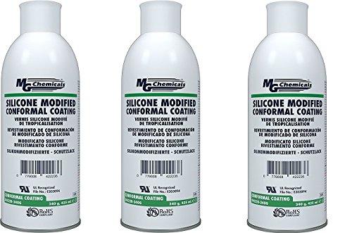 MG化学薬品422b-340gシリコンConformalコーティング、クリア、12オンスエアゾール 3 Pack B07BR54GC2  3 Pack