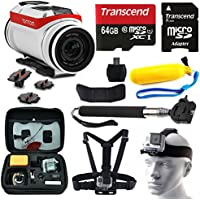 TomTom Bandit 4K HD Action Camera with 10 Piece Accessories Bundle includes 64GB Card + Floating Handle + Card Reader + Selfie Stick + Chest/Head Strap + Travel Case + More!