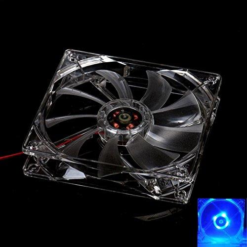 GOTD 8CM Blue LED Light CPU Cooling Fan Computer PC Clear Case Quad Heatsink (1 Tb Ram compare prices)