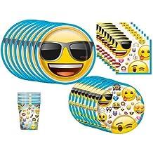 emoji Birthday Party Supplies Bundle, Pack for 16