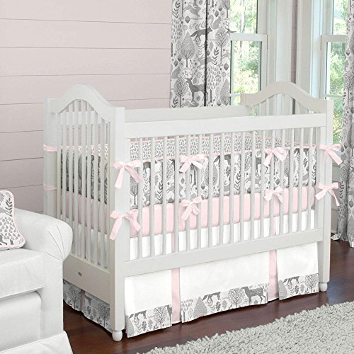 Carousel Designs Pink and Gray Woodland Crib Bumper by Carousel Designs (Image #2)