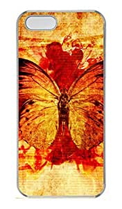 iPhone 5S Case, iPhone 5 Cover, iPhone 5S Dead Animals Butterfly Hard Clear Cases