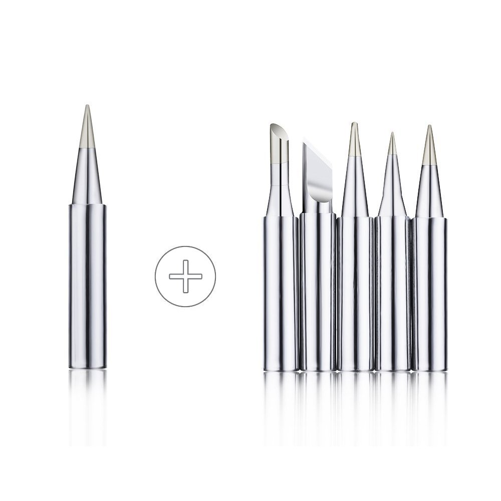 Desoldering Pump Stand and 6pcs Aid Tools in PU Carry Bag Tin Wire Tube Sywon Full Set 60W 110V Electric Soldering Iron Kit with Adjustable Temperature Welding Iron 2pcs Tweezers 5pcs Tips