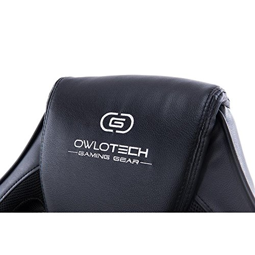 Owlotech Silla para Gaming, Poliuretano, Negro, 28x53x84 cm: Amazon.es: Informática
