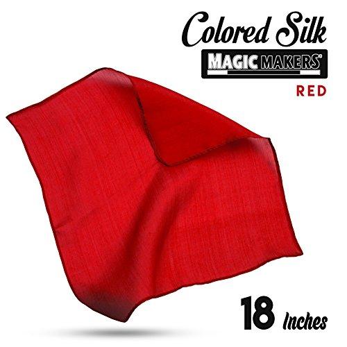 Magic Makers Professional Grade 18 Inch Magician's Silk - (Professional Magician Kit)