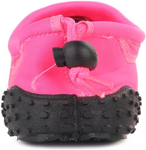 Enimay Hombres Outdoor Stretch Nylon Mesh Rubber Sole Ajustable Deporte Zapato De Agua Neon Pink
