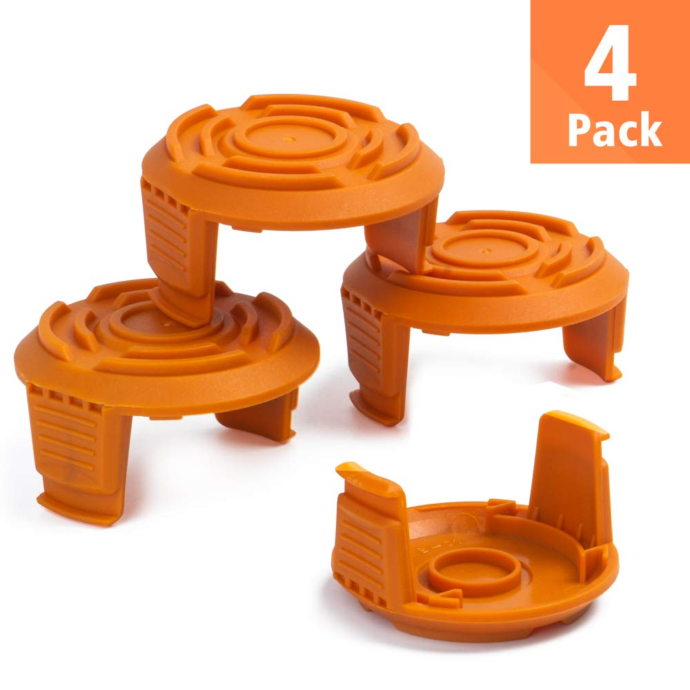 Weed Easter String Autofeed WA6531GT Cap 4 Pack FutureWay Trimmer Replacement Spool Cap Covers and Spring Compatible with Worx WG163 WG155 WG180 WG175 WG160