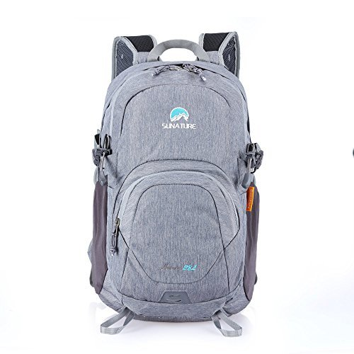 Paladineer Hiking Backpack Travel Daypack Sports Bag for Camping,Climbing,Mountaineering,Cycling 28L Gray