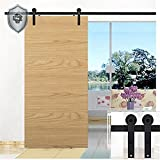 KIRIN 11 Feet Single Wood Door Barn Door Hardware Household Noiseless Track Set (Simple flat shape)