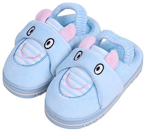 UIESUN Unisex Toddler Kids Slippers Shoes For Boys Girls House Slipper Blue 18/19