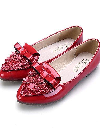 casual 5 uk5 rojo almendra black PDX zapatos Flats talón plano de Toe vestido mujer comodidad eu38 negro de cn38 cerrado us7 Toe señaló rosa 5 BRWcOqUBa