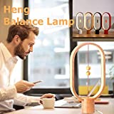 Heng balance lamp - Ellipse Magnetic mid-air switch USB Powered LED Lamp, Contemporary Eye-Care Soft Warm Light, for Bedroom,Living Room,Dining,Dresser,Reading Desk and Office