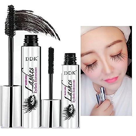 Máscara de maquillaje en crema para pestañas Nicebelle DDK 4D impermeable, color negro, extensiones