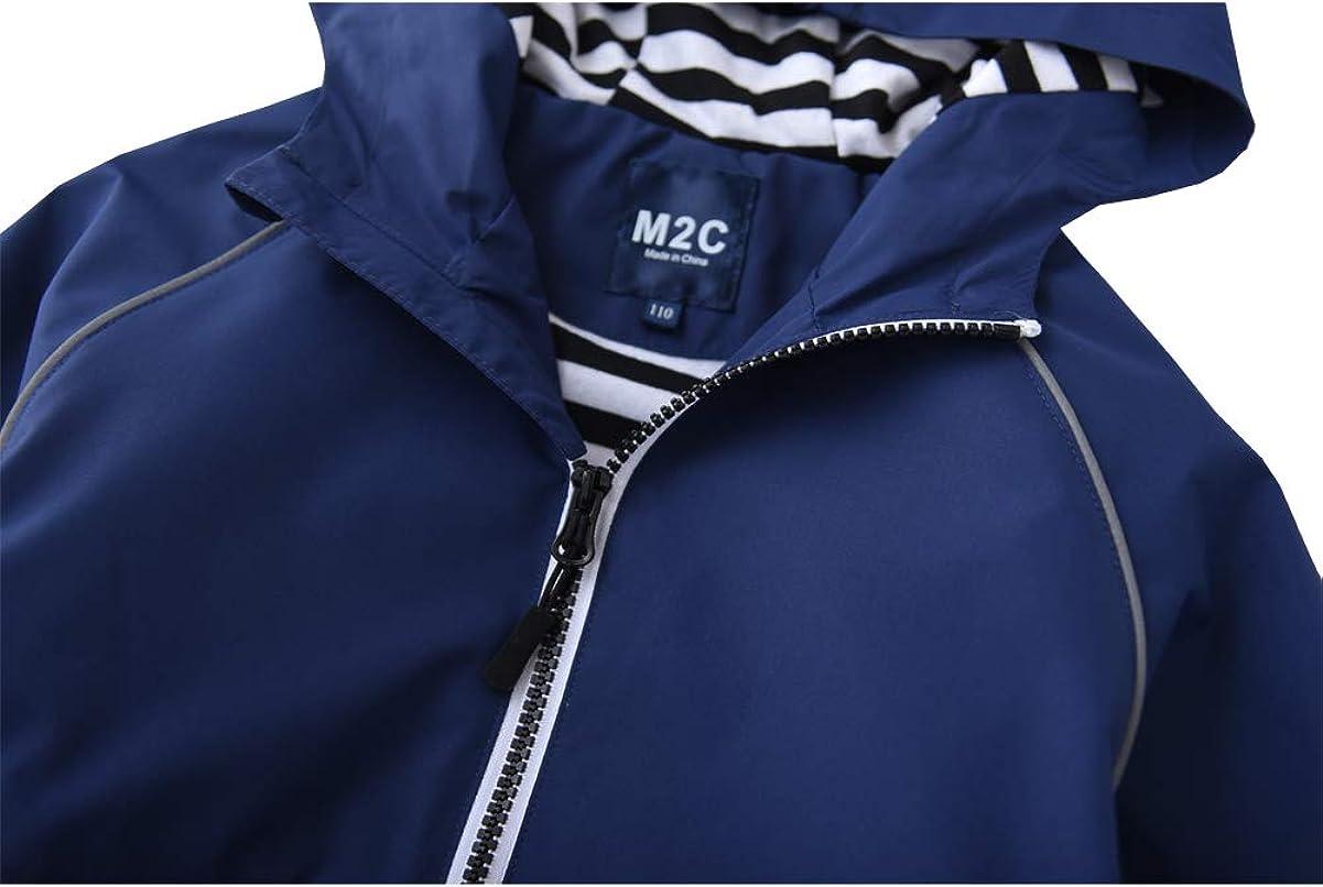 M2C Boys Girls Hooded Cotton Lined Waterproof Jackets