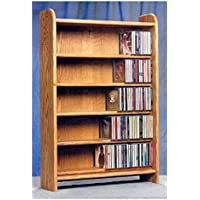 5 Shelf CD Storage (Honey Oak)