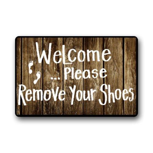 Quality Guaranteed Welcome Please Remove Your Shoes Doormat Custom  Indoor/Outdoor Doormat 026
