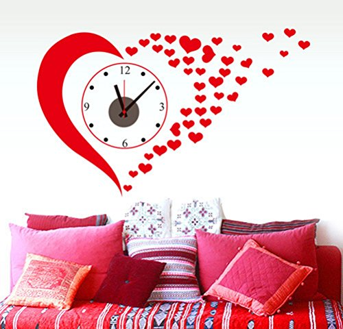 Cheap  ChezMax Wall Clock Stickers DIY Wall Murals Decal for Living Room Bedroom..