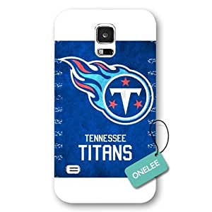 Onelee(TM) - White Frosted NFL Team Tennessee Titans Logo Samsung Galaxy S5 Case & Cover - White 1