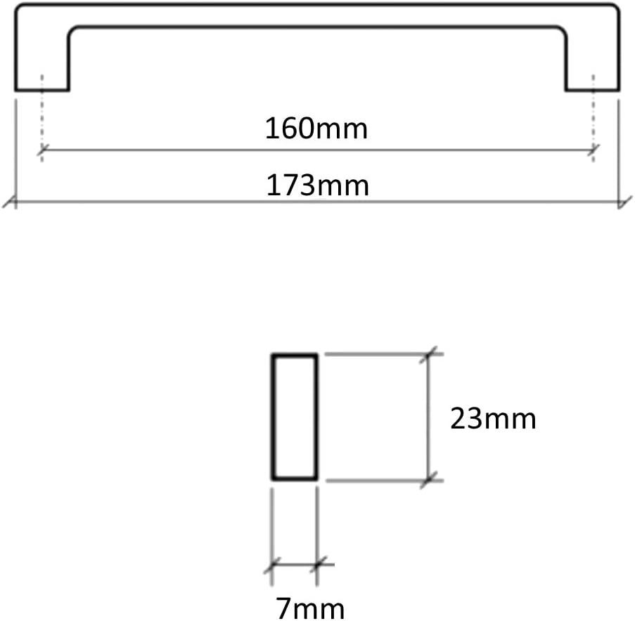 2X poign/ée de tiroir Placard Porte Meuble Armoire Shala chrom/é 160mm C41701 AERZETIX
