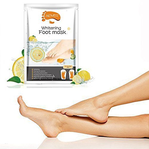Soft Touch Foot Peel Mask, Exfoliating Callus Remover (Lemon, 3 Pairs/Set) by AL'IVER