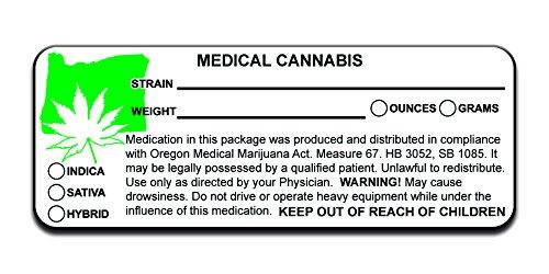 Oregon OR Marijuana Medijuana 420 Cannabis Compliant Packaging Labels  Stickers Decals