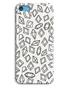 Diamond Hand-drawn Graphic iPhone 5c Hard Case Cover wangjiang maoyi