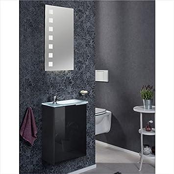 Amazon.de: Fackelmann Gäste WC Set KARA / Spiegel, Armatur ...