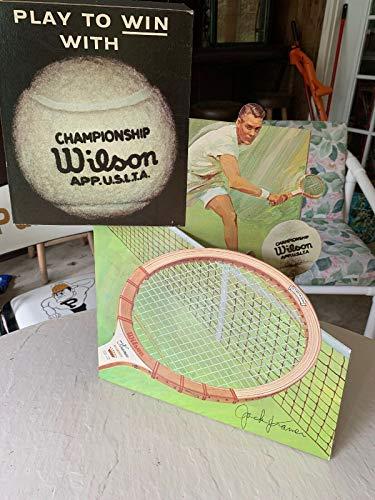 Goods Tennis Sporting - 1960's Jack Kramer Wilson Tennis Sporting Goods Store Die Cut Display