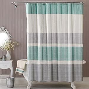 Better homes and gardens glimmer decorative bathroom collection fabric shower for Better homes and gardens shower curtains