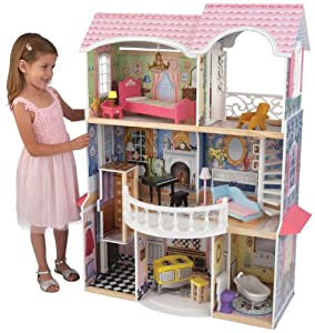 Amazon.com: KidKraft Magnolia Mansion Dollhouse with Furniture: Toys