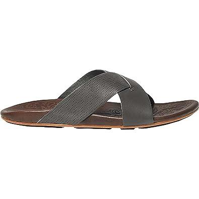 6853b8b2c22 OLUKAI Punono - Mens Leather Slides Charcoal DkJava - 8
