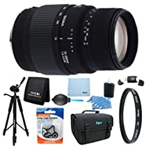 Sigma 70-300mm f/4-5.6 SLD DG Macro Lens for Nikon DSLR Cameras Includes Bonus Xit 60