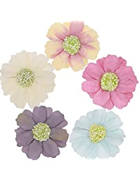 Daisy Flower Headbands Floral Crown Hair Bands Wedding Accessories Pack of 5 (Multicolored)