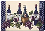 The Pecan Man PVC, WINE & GRAPES, Chateau KITCHEN RUG (non skid back) ,1Pcs 18x30''