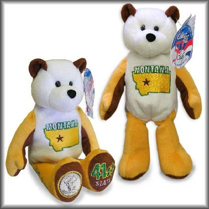 1 X #41 Montana State Quarter Collectible Plush Stuffed Coin Bear Limited Treasures