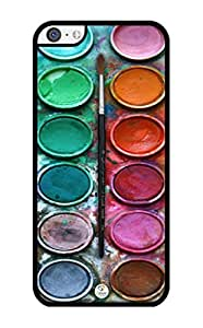 iZERCASE Colorful Watercolor Set RUBBER iPhone 5C Case - Fits iPhone 5C T-Mobile, AT&T, Sprint, Verizon and International