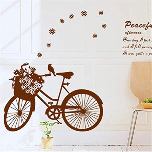 - EWQHD Bike Tours Bedroom Living Room Children's Room Bathroom Playful Lovely Backdrop Stickers 50 70Cm