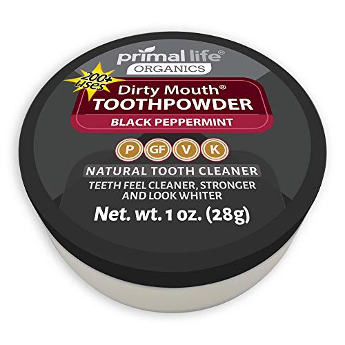 Wow its Charcoal Organic Tooth Powder Dirty Mouth #1 Best Rated All Natural Dental Cleanser- Gently Polishes, Cleanses, Re-Mineralizes, Strengthens Teeth - Black Peppermint (1 oz = 3mo Supply)