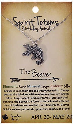 Shagwear Spirit Totems Birthday Animal Pendant Necklace (Beaver Pendant)