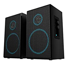 Arion Legacy AC Powered 2.0 Desktop Speakers with All Wooden Cabinets for PC, Notebook, Tablet and Smartphone (Deep Sonar 100)
