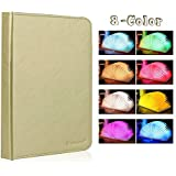 Veesee Upgrade 8 Colors Rechargeable Book Lamp,Creative Folding Book-Shaped Night Light Beside Bed,Desk Table Living Room Decor Lighting Birthday Wedding Mother's Day Gift for Book Lover Family(Brown)