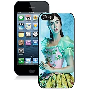 Beautiful Custom Designed Cover Case For iPhone 5s With Mirror Mirror Lily Collins Phone Case Kimberly Kurzendoerfer