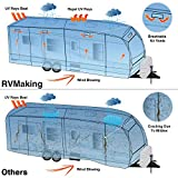 RVMasking 5-ply Top Travel Trailer RV Cover, Fits