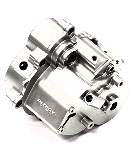 Integy Hobby RC Model T3802SILVER Billet Machined Alloy Center Gear Box for Traxxas T-Maxx (4907, 4908)