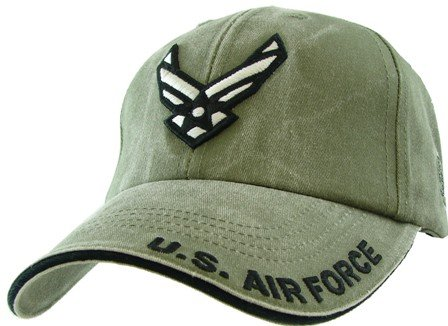 us-air-force-wings-logo-3d-embroidered-hat-green-adjustable-buckle-closure-cap