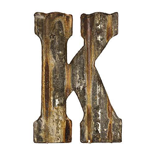 Custom Cut Decor 8'' Rusty Galvanized Corrugated Metal Letter -K (Letter Metal K)