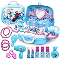 Ardorlove Disney Girls Princess Frozen Dressing Makeup Toy Set Kids Beauty Toys Pretend Play Toys Kit gift (Color : A…