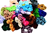 Chloven 45 Pcs Hair Scrunchies Velvet Elastics Hair