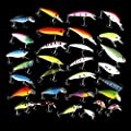 Homegarden 30pcs Metal Artificial Fishing Bait Crankbait Assorted Fish Hooks Tackle