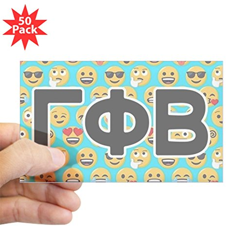 CafePress - Gamma Phi Beta Emoji Let - Sticker (Rectangle 50 pk) by CafePress